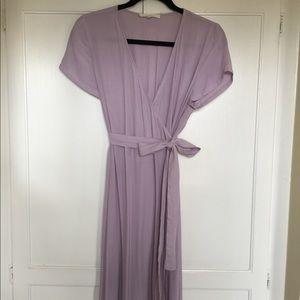Lavender Wrap Dress Maxi